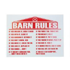 Sign Barn Rules - TB