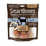 Smart Bone Medium Peanut Butter 4 Pack - TB