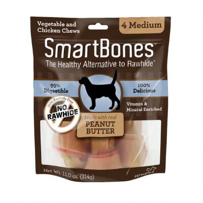 Smart Bone Medium Peanut Butter 4 Pack