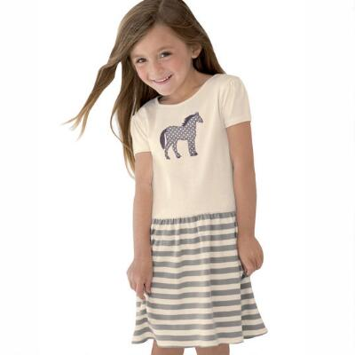 Stirrups Spotted Pony Girls Dress