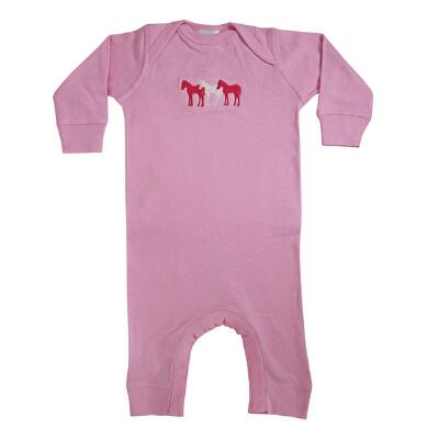 Stirrups 3 Ponies Long Sleeve Infant Romper