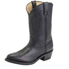 Mens Oiled Black Leather Western Boot