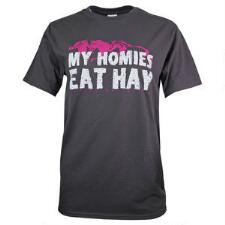 Horses Unlimited My Homies Eat Hay Ladies Tee - TB