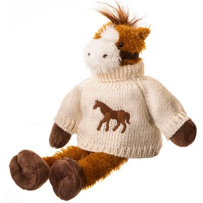 Plush Horse with Sweater