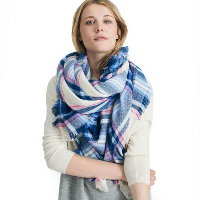Joules Heyford Plaid Ladies Winter Scarf
