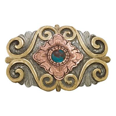 Montana Silversmiths™ Cabochon Flower Blooming Belt Buckle