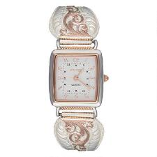 Montana Silversmiths Rosegold Filigree Ladies Expansion Watch - TB