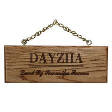 Custom Engraved Wood Plaque with Name Only - TB