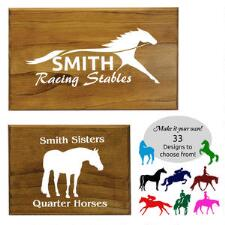 Customizable Wood Stall Plaques - TB