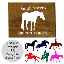 Wood Plaque with Custom Decal 7.5in x 5.5in - TB