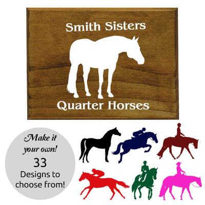 Wood Plaque with Custom Decal 7.5in x 5.5in