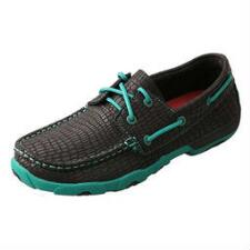 Twisted X Black Croc Womens Driving Moc - TB