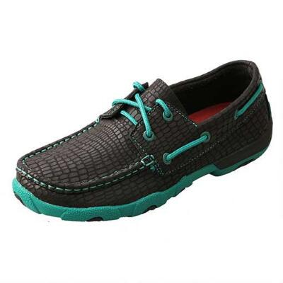 Twisted X Black Croc Womens Driving Moc
