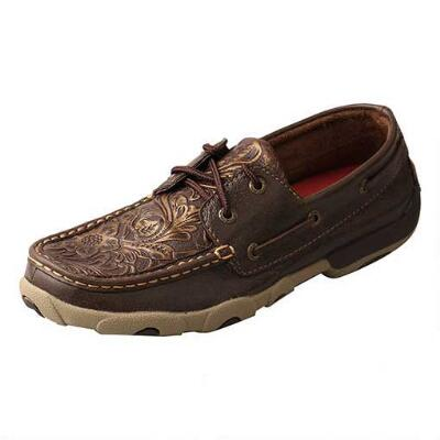 Twisted X Embossed Womens Driving Moccasin