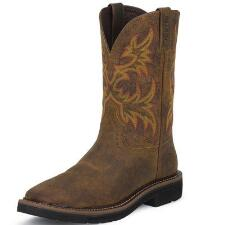 Original Rugged Tan Cowhide Western Mens Work Boot - TB