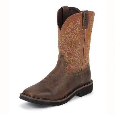 Justin Switch Western Mens Work Boot