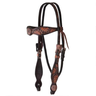 Circle Y Vintage Sunflower Browband Headstall