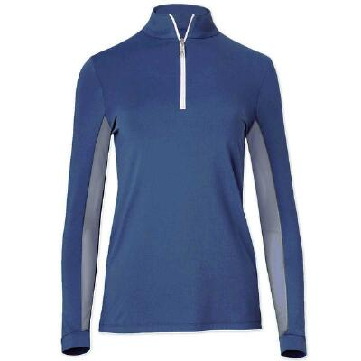Tailored Sportsman Marine Blue ICEFIL Ziptop Ladies Show Shirt
