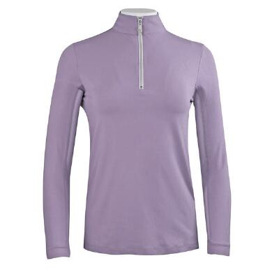 Tailored Sportsman Ice Fil Ladies Purple Zip Top Sun Shirt